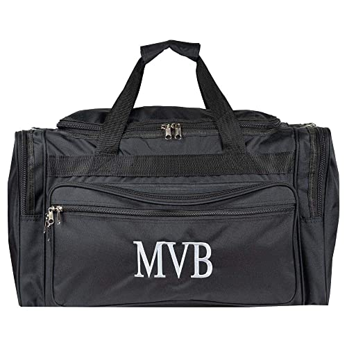 ee1404a1a48 Personalized Mens Large Black Overnight   Gym Duffle Bag 22 Inch