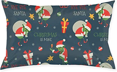 SKYISOK Grinch Pattern Pillowcases Decorative Pillow Covers Soft and Cozy, Standard Size 20