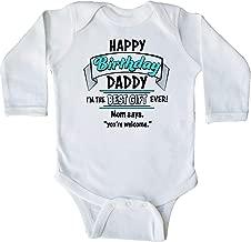 inktastic Happy Birthday, Daddy in Blue Long Sleeve Creeper