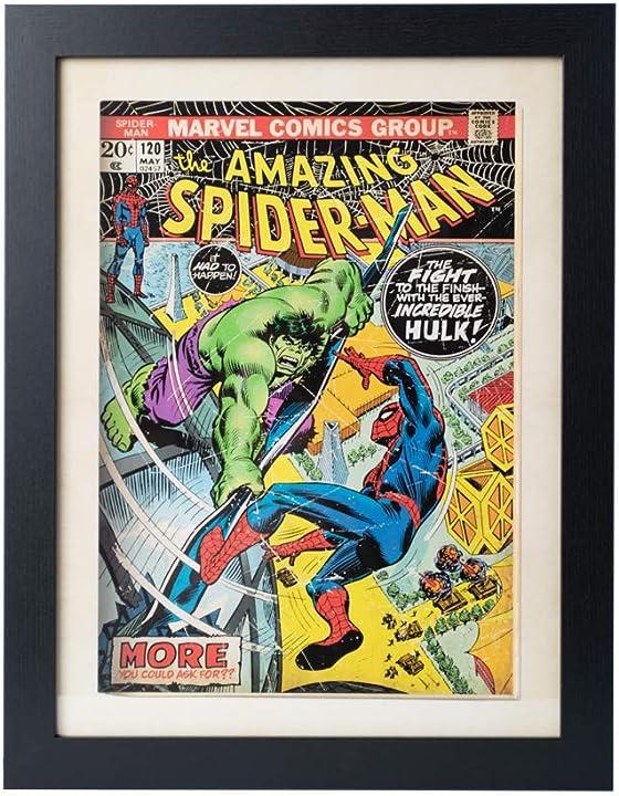 quadro spiderman-incredibile hulk decorativo 30x40 cm marvel comics grupo erik pe30x40cm0015
