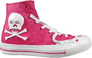 Zeckos Pink Skull & Bones Retro High Top Sneaker Coin Bank