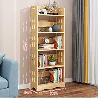 無垢材の子供用本棚、 多層の開いた本棚と子供のおもちゃの収納ラック、 省スペースのブックディスプレイ、 本、雑誌、CD棚、ファイル棚をホームオフィスに保管できます ZDDAB