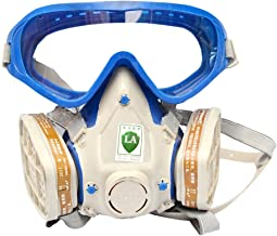 Holulo Respirator Gas Mask Safety Mask Comprehensive Cover Paint Chemical Mask & Goggles Face Respirator Mask Pesticide Dustproof Breathing Apparatus
