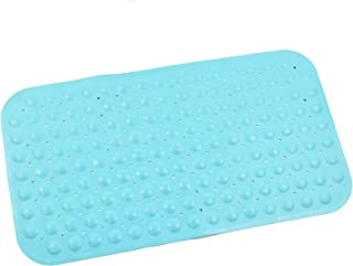 ABELE (R Ultra Soft TPR (No Smell) Rubber Blue Bubble Non Slip Baby Kids Safety Shower Bath Tub Mat, Skid Proof and Anti Bacterial, Mildew Mold Resistant Bathtub Mat (Blue)