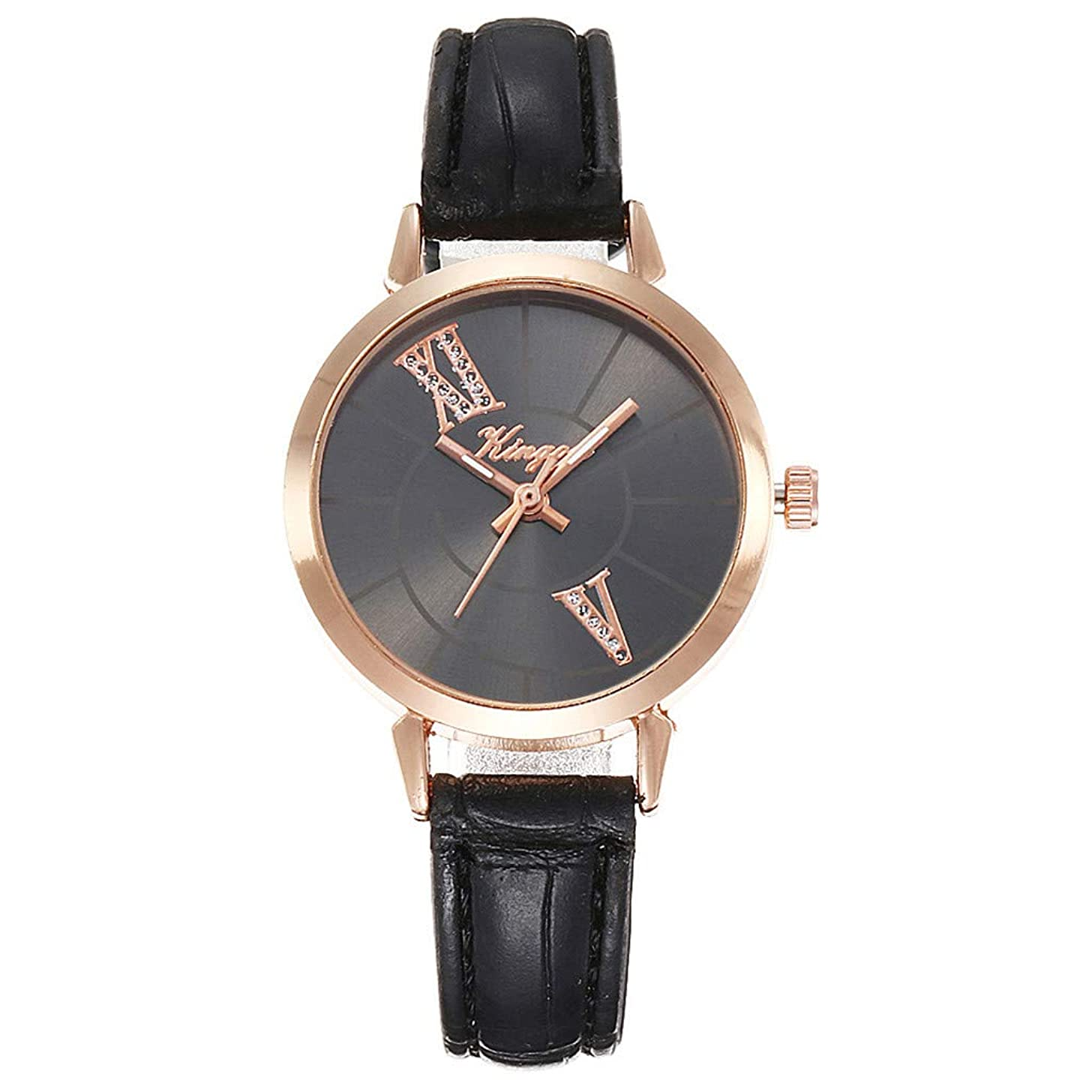 LUCAMORE Womens Watches Quartz Wristwatch Casual Watch Unique Dress Watch Leather Band Fashion Ladies Watch on Sale