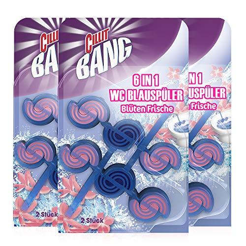 CILLIT BANG Blue Wave WC Spüler Blüten Frische – Toilettenreinigung mit Reinigungsschaum & Blütenduft – 3 x 2er Pack