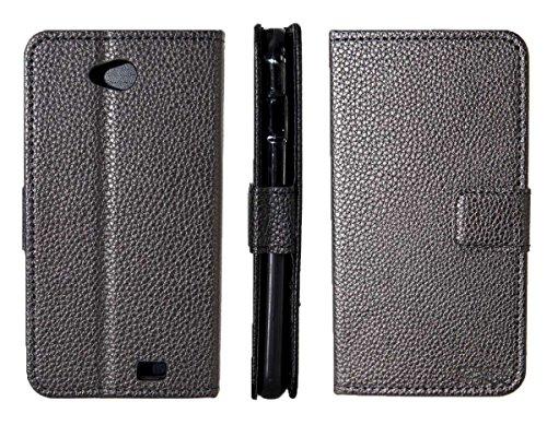 caseroxx Handy Hülle Tasche kompatibel mit Archos 50C Platinum Bookstyle-Hülle Wallet Hülle in schwarz