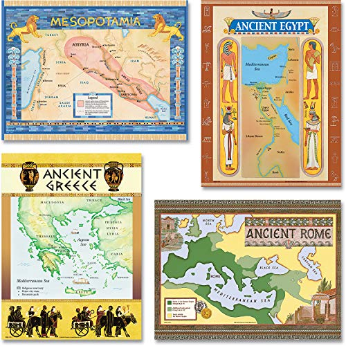 Teacher Created Resources Ancient Civilizations Bulletin Board Display Set (4422), Multi Color