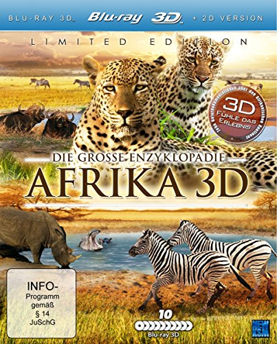 Die große Enzyklopädie Afrika 3D (10 Real-3D Dokumentationen in einer limitierten Gesamt-Edition exklusiv bei Amazon.de) [Blu-ray 3D]