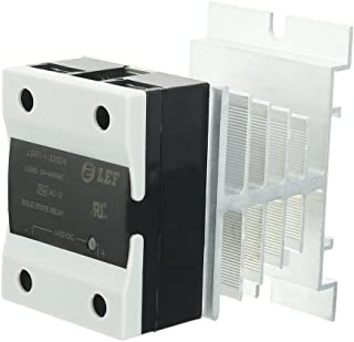 uxcell LSR1-1-325DA 25A DC to AC 3-32VDC to 24-440AC SSR Thermal Compound Solid State Relay + Heat Sink