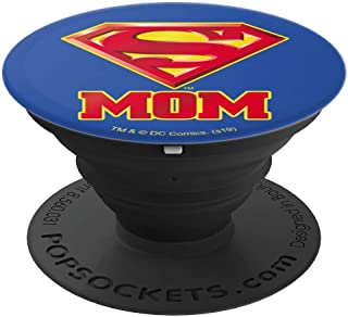 Superman Super Mom Shield Logo PopSockets Grip and Stand for Phones and Tablets