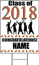 2018 GRADUATION ORANGE YARD SIGN (1 EACH) by Partypro