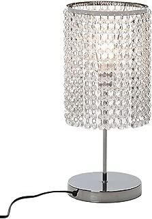 Surpars House Elegant Crystal Silver Table Lamp