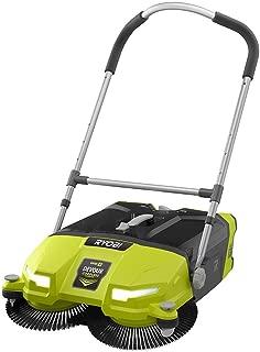 Ryobi ONE+ DEVOUR 18-Volt Cordless Debris Sweeper, Transparent 4.5 Gal Tub Capacity with LED Headlights, Rear Wheel Height Adjustment, 21