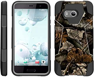 TurtleArmor   Compatible for HTC U11 Case   HTC Ocean Case [Dynamic Shell] Hybrid Dual Layer Hard Shell Kickstand Silicone Case -