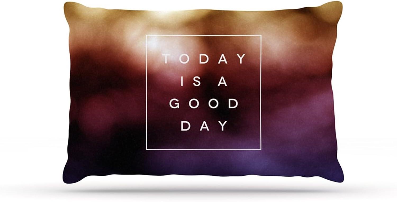 Kess InHouse Galaxy Eyes Good Day Rainbow Dog Bed