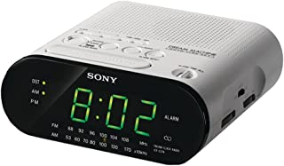Sony ICF-C218 Automatic Time Set Clock Radio (White) (Discontinued by Manufacturer)