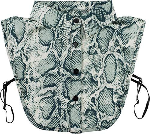 styleBREAKER Dames blouse kraaginzet met slangenmotief en knoopsluiting, kraag voor blouses en truien 08020010