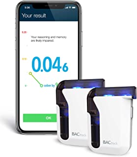 BACtrack Mobile Smartphone Breathalyzer (2 Pack) | Professional-Grade Accuracy | Bluetooth Connectivity to Apple iPhone, Google & Samsung Android Devices | Apple Health Kit Integration