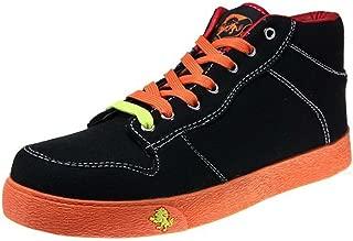VLADO Footwear Spectro 1 Mid Top Sneaker, Black/Orange, (Size 13) IG-1060-701