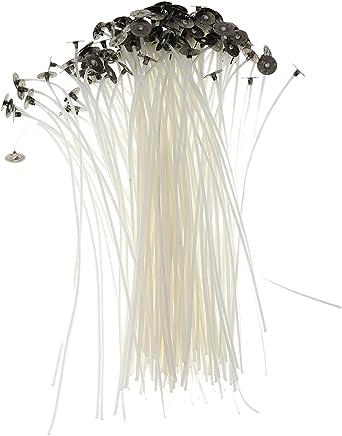 MagiDeal 50pcs Mèches Bougies Coton avec Supports pour Fabrication de Bougies 15cm