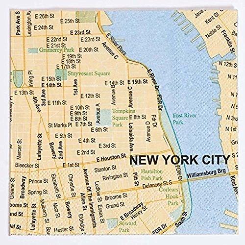 Design Ideas New York City Mapkins City Map Beverage Napkins