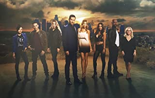 Lucifer Tom Ellis, Tricia Helfer and Lesley-Ann Brandt with Cast 11 x 17 inch Poster Litho