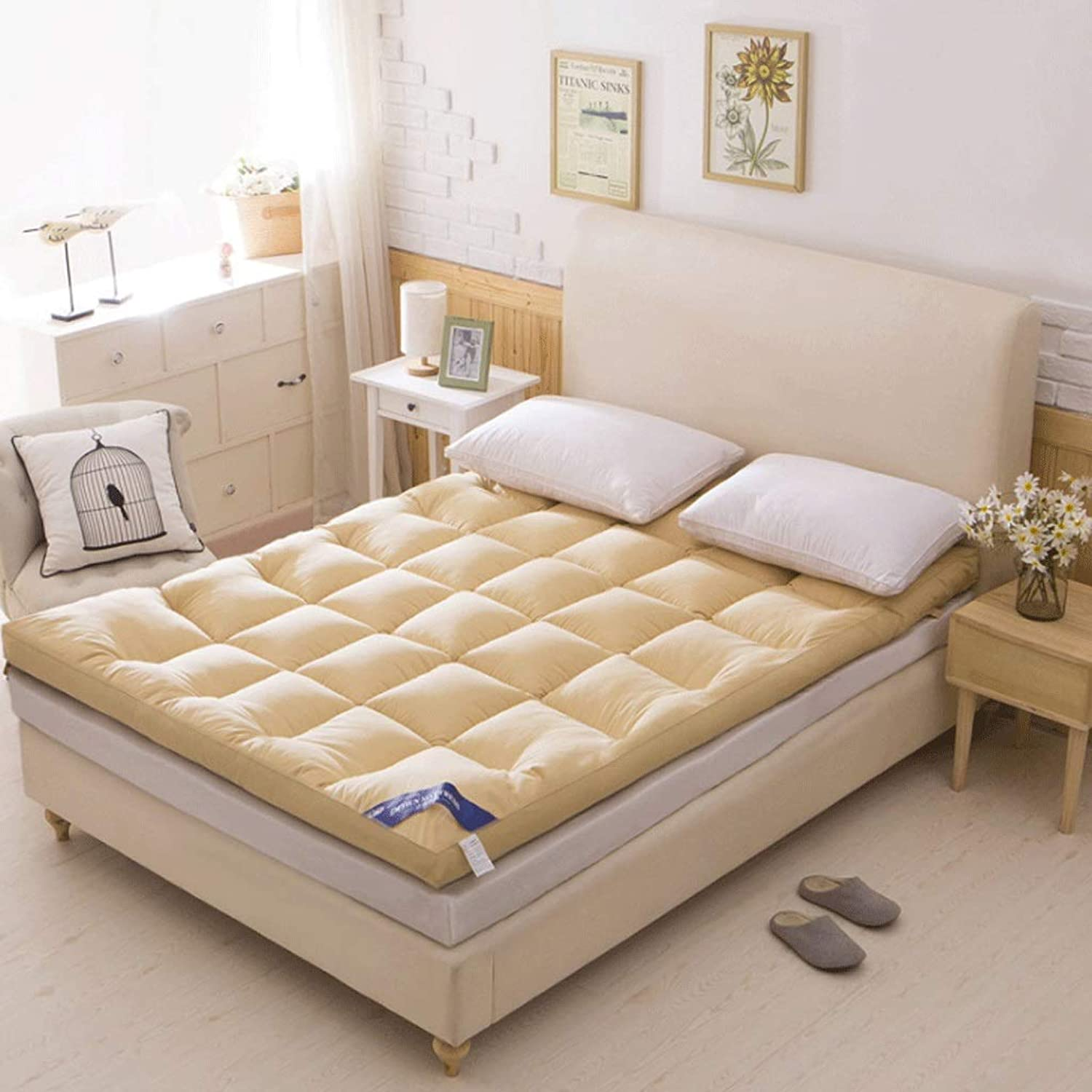 Winter Padded Mattress Student Dormitory Sleeping Pad Feather Velvet Padded - 5 Sizes (color   3, Size   100x200cm)