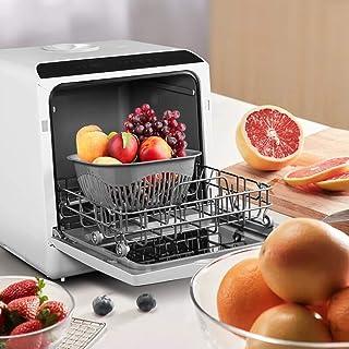 WYZXR Lavavajillas Compacto, lavavajillas de sobremesa para Apartamentos, oficinas y cocinas domésticas con 4 Lugares para Colocar el Estante y la Cesta