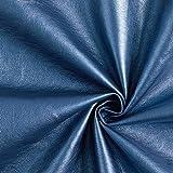 Kunstleder Metallik Glanz – blau — Meterware ab 0,5m