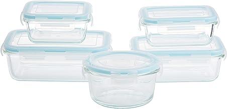 Taliona TL2213374 Borosilicate Glass Boro Pro Food Container Set, Blue, W 32.0 x H 13.6 x D 13.6 cm, Rectangular