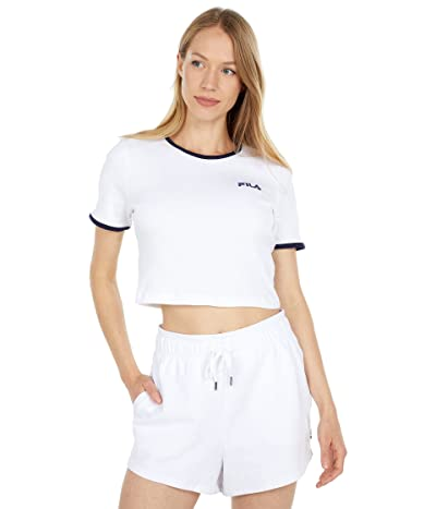 Fila Perla Short Sleeve Crop Top