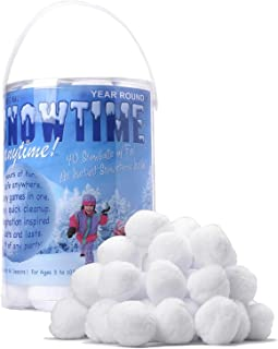 SNOWTIME ANYTIME Indoor Snowball Fight (40 Pack)