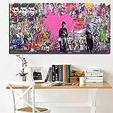 Cartel de pintura de arte pop callejero famoso abstracto impreso en lienzo imagen de pared de arte de graffiti para sala de estar Cuadros40x70cm