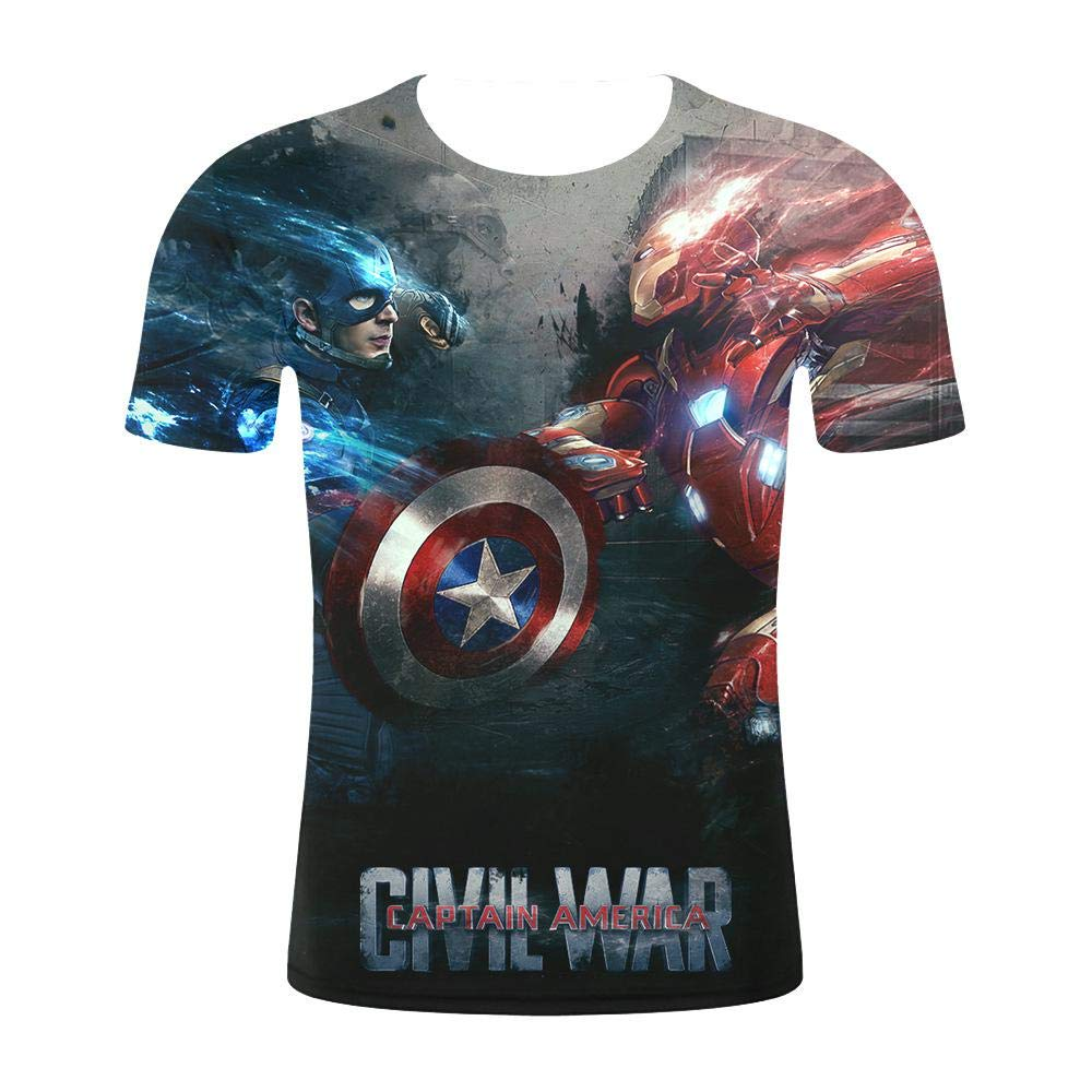 YXRL Camisa Comprimida con Estampado 3D Camiseta De Superhéroe Deportiva De Manga Corta Y Fitness 18-L: Amazon.es: Hogar