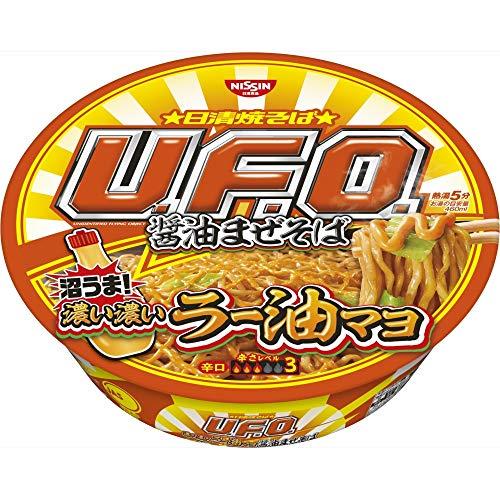 日清 焼そばU.F.O. 濃い濃いラー油マヨ付き醤油まぜそば 113g ×12個