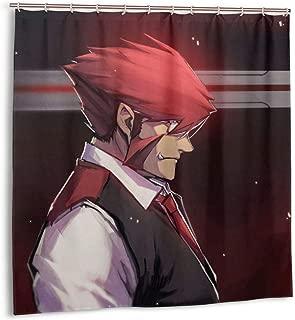 SHANGQINGYUN Blood Blockade Battlefront-Klaus Von Reinherz Anime Shower Curtain (72 X 72 Inch) Waterproof Polyester Fabric Shower Curtain for Bathroom Showers and Bathtubs with Plastic Hooks