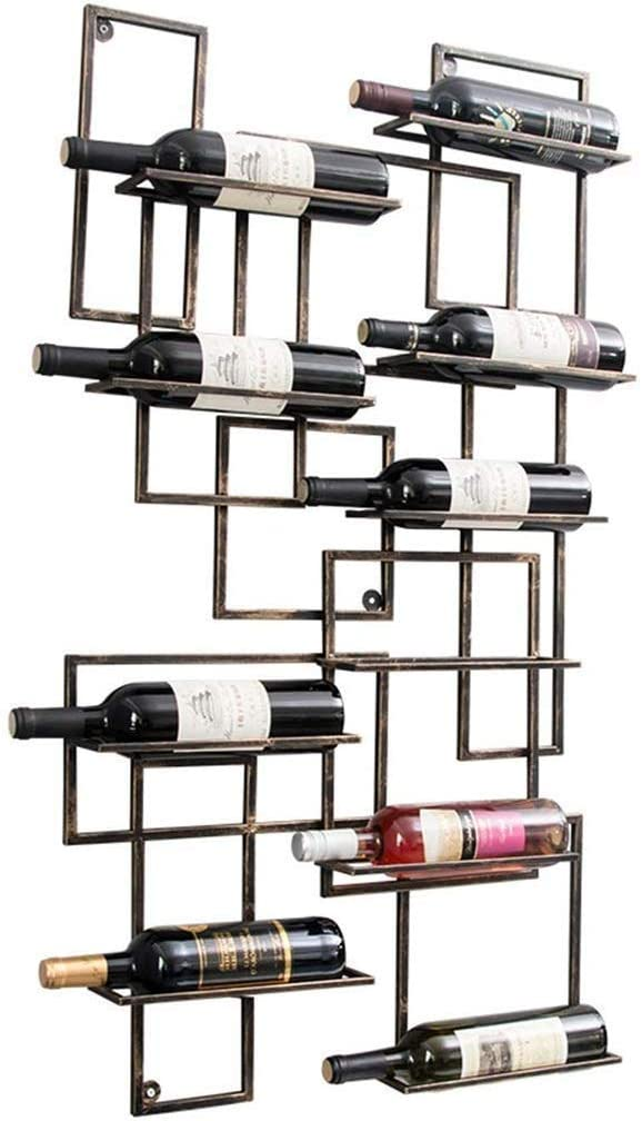 YYONGAO 108cm Fixed price for sale Wall Wine Bottle Metal Iron Ho Max 82% OFF Holder