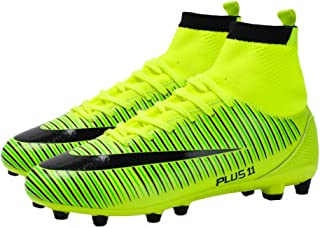 Leader Show Mens Performance High Top Turf Soccer Shoe Lace Up Athletic Trainer Football Cleat