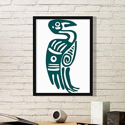 DIYthinker Mexico Totems Mexicaanse Arend Oude Beschaving Vogel Eenvoudige Beeld Frame Kunst Prints Schilderijen Thuis Muursticker Gift