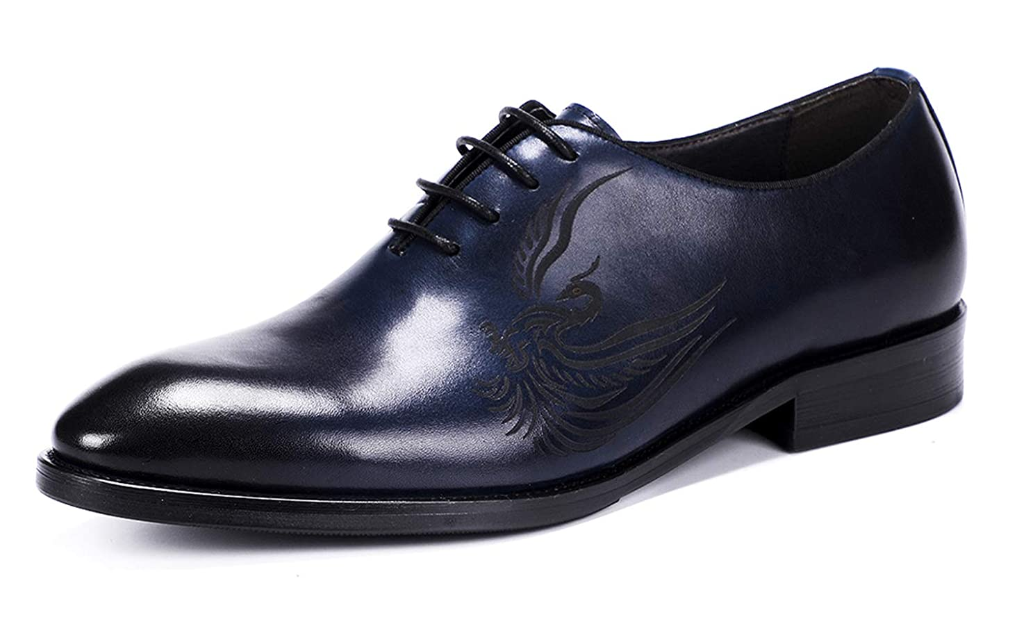 Oxford Shoes Men Dress Shoes Classic Handmade Carved Phoenix Modern Formal Leather Mens Wholecut Oxford Shoes