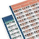 Juego de 2 Láminas para Pianistas - Póster Útil sobre Acordes - Lámina para Aprender Piano - Tabla con Acordes de Piano y Escalas - Teoría de Piano para Principiantes - Tamaño A1 - Versión plegada