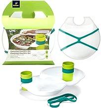 TCM Tchibo 4tlg camping Vajilla de platos y vasos extraleicht plástico