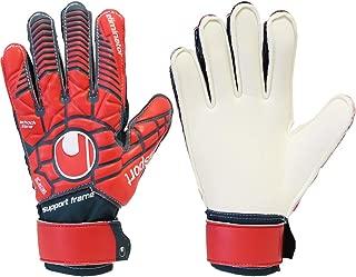 uhlsport Boys Eliminator Soft Support Frame Finger Protection Junior LTD Goalkeeper Gloves for Soccer