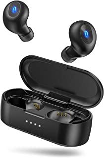 Wireless Earbuds, TaoTronics Bluetooth 5.0 Headphones SoundLiberty 77 Bluetooth Earbuds IPX7 Waterproof Hi-Fi Stereo Sound Open to Pair Free to Switch Single/Twin Mode with 20H Playtime
