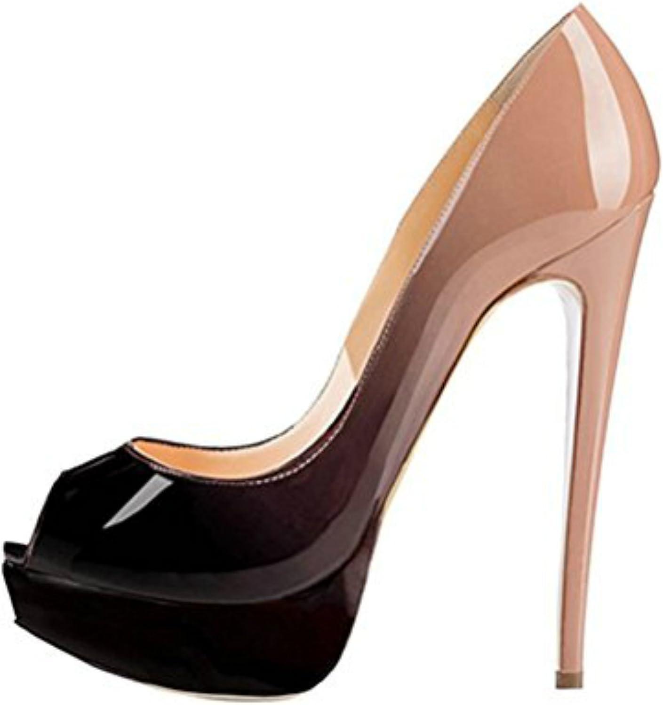 MIUINCY Women's High Heels Peep Toe Pumps Platform shoes for Dress Wedding Party