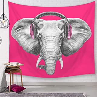 Simmia Home Elephant Mandala Tapestry Forest Bohemian Tapestry Tapiz de Pared Tapiz Pared Mandala 150x130cm / 59x51inch