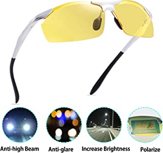 d936469a87 Night Driving Polarized Glasses for Men Women Anti Glare Rainy Safe HD  Night Vision Hot Fashion