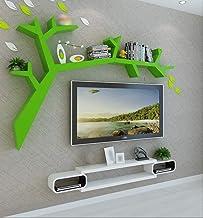 聽Boomvormige boekenplank, wandplank, woonkamermuur hangend, boekenkast, moderne minimalistische roosterstandaard 120x90 cm...