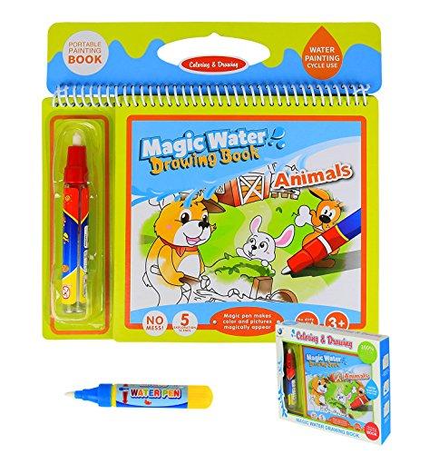 BBLIKE Water Magic 2 Stylos Magique Peindre Aquadoodle Un Livre à colorier Jouet Réutilisable pour...